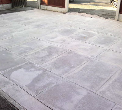 Driveway and patio cleaning case studies for Cleaning concrete patio slabs